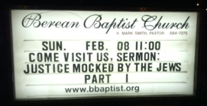 Church promotes anti-Semitic message 24/7