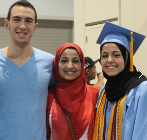 Deah Shaddy Barakat, 23, his wife, Yusor Mohammad, 21, and her sister Razan Mohammad Abu-Salha, 19