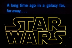 Star Wars: A long time ago in a galaxy far, far away.... Watch the opening scene to the original Star Wars