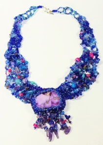 Freeform necklacebeaded embroidery(Joelle Burnette)