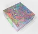 "Galaxy Paintingmixed media on wood canvas4"" x 4"" x 1.5"""
