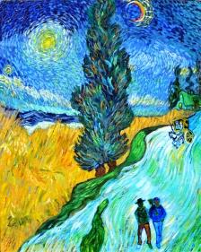 """Copying Van Gogh""Acrylic on canvas30″H x 24″W x 0.75″D"