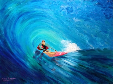 """Large Wave Surfer""Acrylic on canvas 30″H x 40″W x 1.5″D"