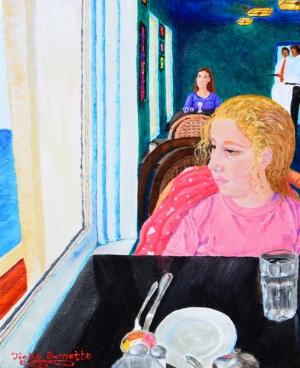 "SOLD: ""Lunch at the Cliff House""Acrylic on canvas"