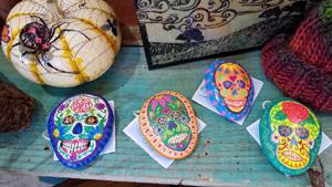 Painted-stones-skulls_painted-pumpkin_JoelleBurnette