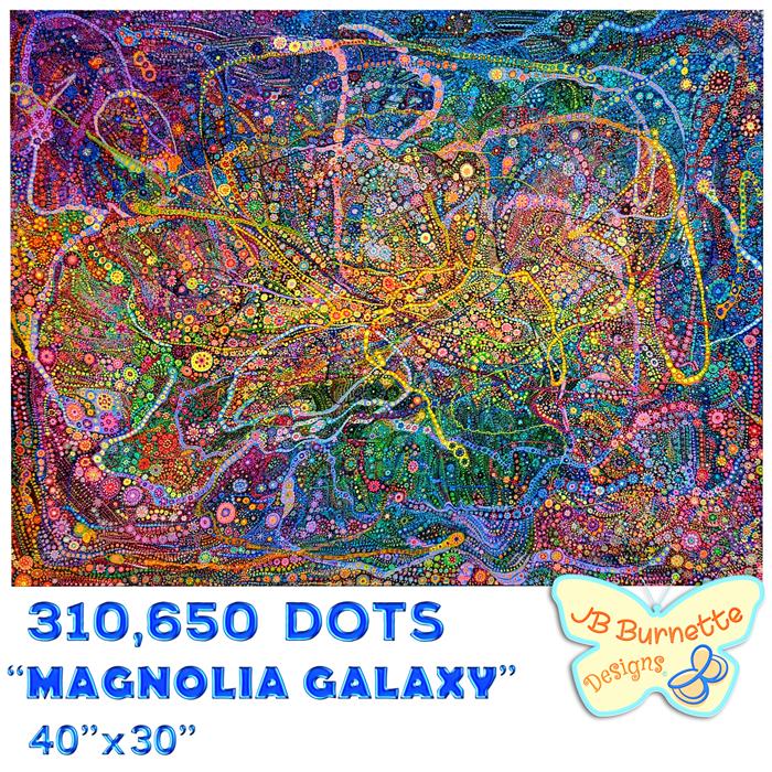 Galaxy paintings series by Joelle Burnette